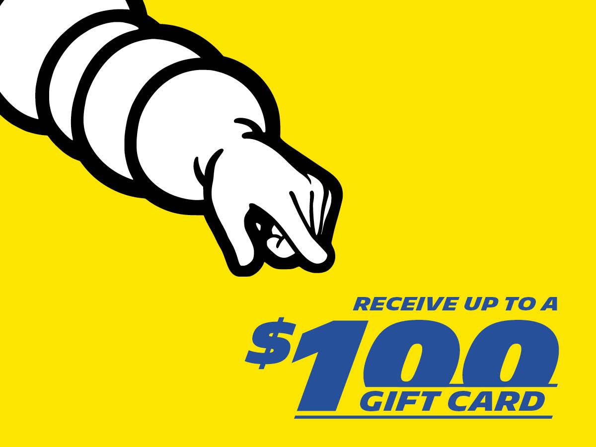 Michelin $100 Gift Card Promo Square Banner