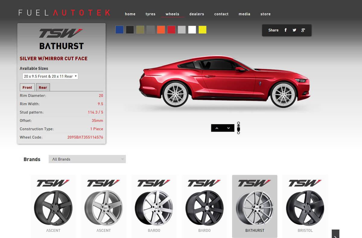 Fuel Autotek's wheel selector